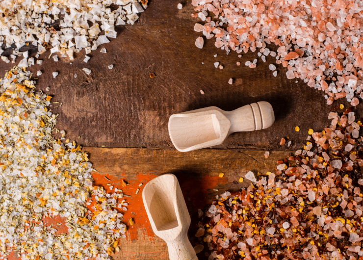 Himalayan edible salt export, after manufacturing under hygienic conditions.